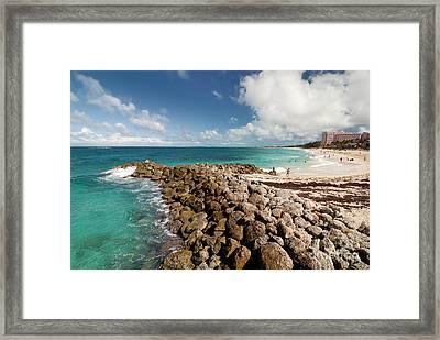 Beach At Atlantis Resort Framed Print by Amy Cicconi