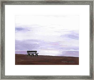 Beach At Cape Cod Framed Print by Artists With Autism Inc