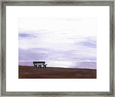Beach At Cape Cod Framed Print