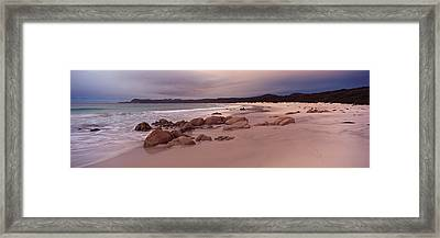 Beach At Dawn, Friendly Beaches Framed Print by Panoramic Images