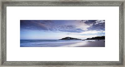 Beach At Dusk, Burgh Island Framed Print by Panoramic Images