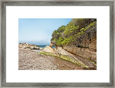 Beach At Montana De Oro Framed Print by Artist and Photographer Laura Wrede