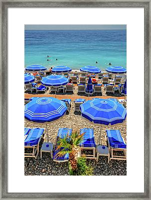Beach At Nice France Framed Print