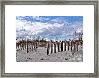 Framed Print featuring the photograph Beach At Pawleys Island by Kathy Baccari