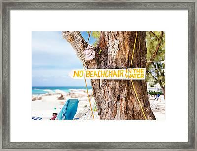 Beach At Rum Point Framed Print by Jo Ann Snover