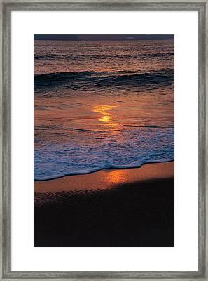 Beach At Sunrise, Nha Trang, Vietnam Framed Print
