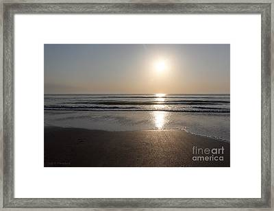 Framed Print featuring the photograph Beach At Sunrise by Todd Blanchard