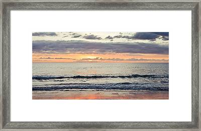 Beach At Sunset Framed Print by Tom Gowanlock