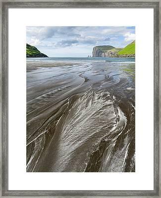 Beach At Tjornuvik Framed Print