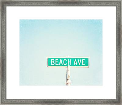 Beach Ave. Framed Print by Carolyn Cochrane