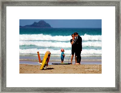 Beach Baby Framed Print by Terri Waters
