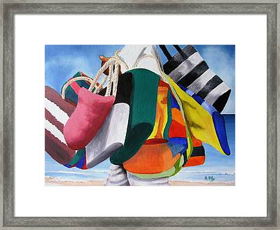 Beach Bag Vendor Framed Print