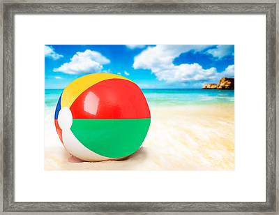 Beach Ball Framed Print by Amanda Elwell