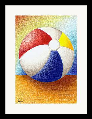 Ball Drawings Framed Prints