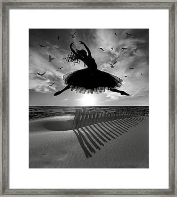 Beach Ballerina Framed Print