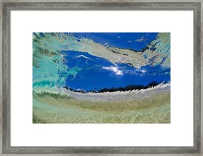Beach Barrel Framed Print by Sean Davey