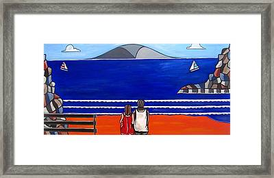 Beach Beach Day Three Framed Print by Sandra Marie Adams