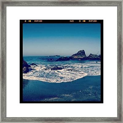 #beach #beautiful #water #waves #nature Framed Print