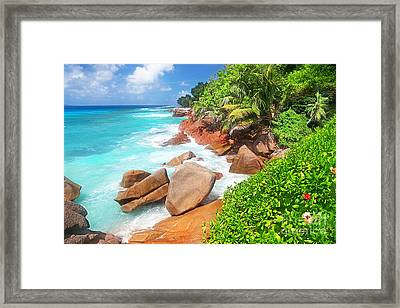 Beach Beauty Framed Print by Boon Mee