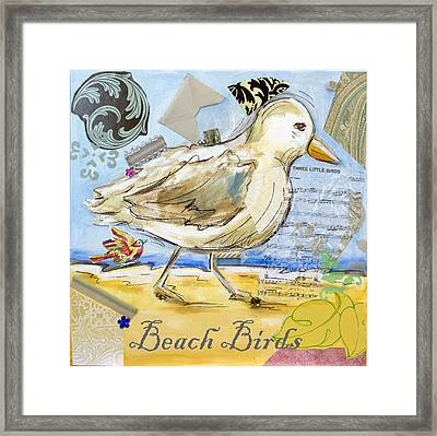 Beach Birds Framed Print