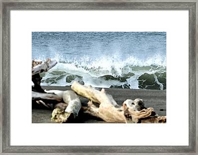 Beach Blast Framed Print by Michael Bruce