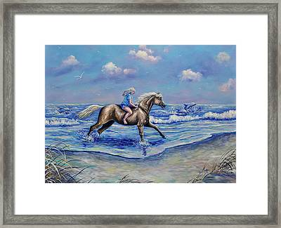 Beach Blonde Running Mates Framed Print