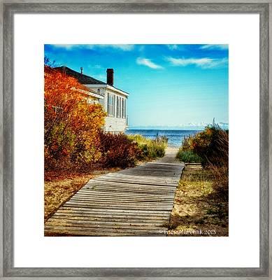 Beach Boardwalk 1 Framed Print