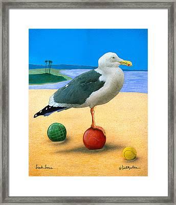 Beach Bocce... Framed Print by Will Bullas