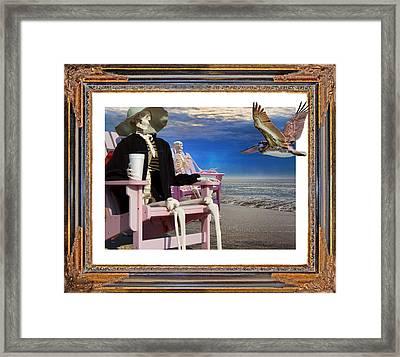 Beach Bones Framed Print