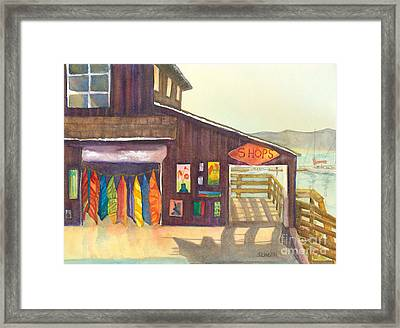 Framed Print featuring the painting Beach Boutique by Sandy Linden