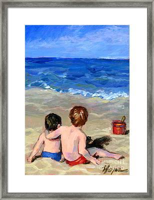 Beach Boys Framed Print by Hope Lane