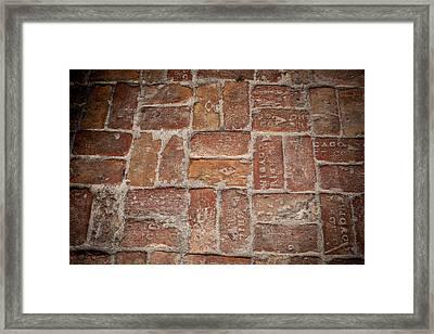Beach Bricks Framed Print