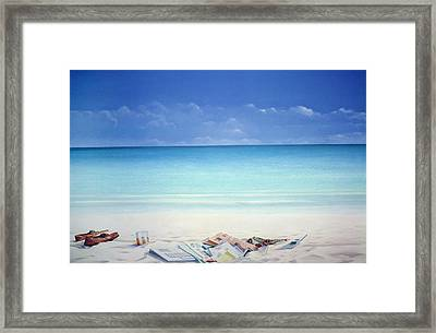 Beach Broker Framed Print by Lincoln Seligman