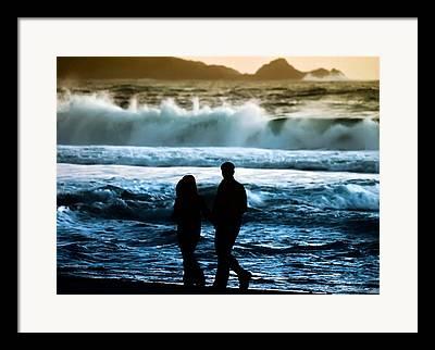 Surf Silhouette Digital Art Framed Prints