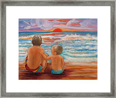 Beach Buddies II Framed Print