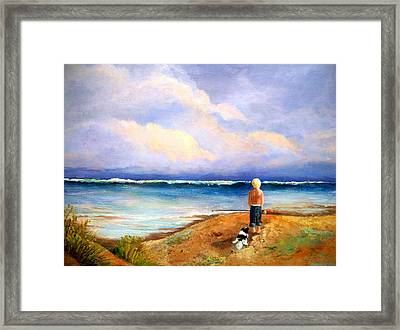 Beach Buddies Framed Print