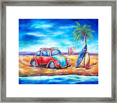 Beach Bug Framed Print by Deb Broughton