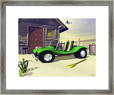 Framed Print featuring the digital art Beach Buggy by John Pangia