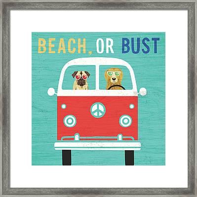 Beach Bums Bus Framed Print