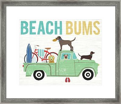 Beach Bums Truck I Framed Print by Michael Mullan