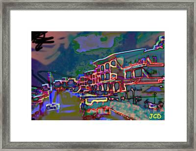 Beach By Night Framed Print by Jean-Claude Delhaise