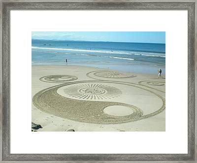 Beach - Byron Bay 2012 Framed Print