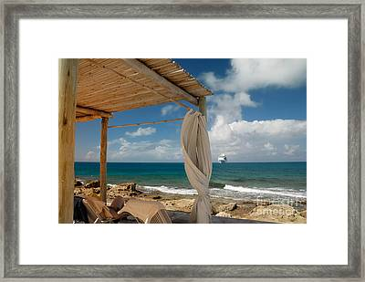 Beach Cabana  Framed Print