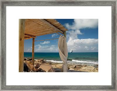 Beach Cabana  Framed Print by Amy Cicconi