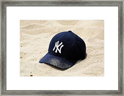 Beach Cap Framed Print by John Rizzuto
