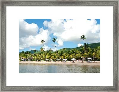 Beach, Carlisle Bay Hotel, Antigua Framed Print