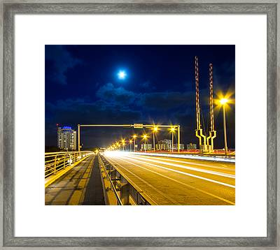 Beach Causeway Framed Print by Mark Andrew Thomas