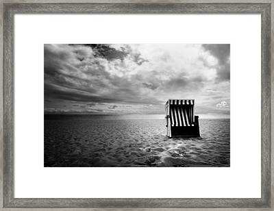 Beach Chair Framed Print by Marc Huebner