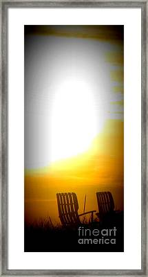 Beach Chairs Framed Print by Maria Scarfone