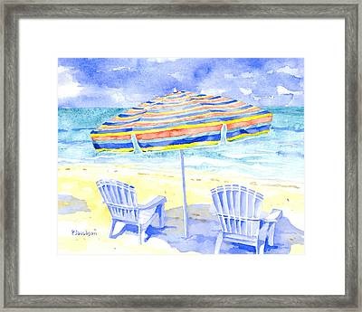 Beach Chairs Framed Print